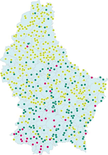 Cities, Towns and Villages in Luxembourg